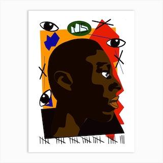 Black Us Art Print