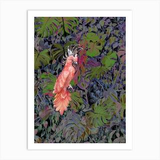 Pink Parrot Art Print