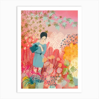 Watering The Dream Garden Art Print