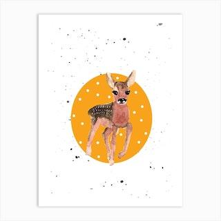 Deer Baby Art Print