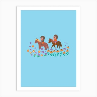Pony Ride Art Print