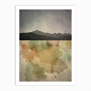 Horizon Mountain Art Print