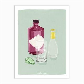 Gin And Tonic Art Print