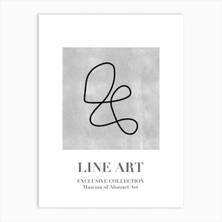 Line Art Abstract Collection 10 Art Print