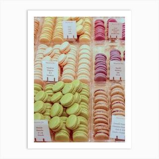 Tangerine Macarons Art Print