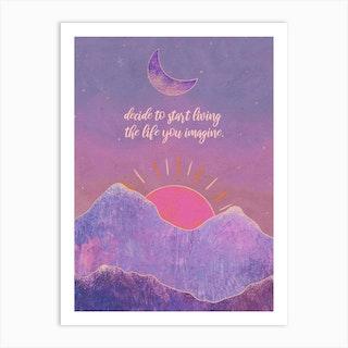 Start Living Art Print