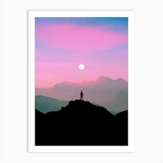 Purple Mountain Art Print