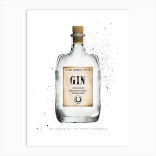 Peaky Blinders Gin Art Print