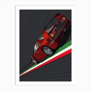 Car Ferrari F40 Italia Art Print
