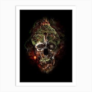 Skull Castle 3 Art Print