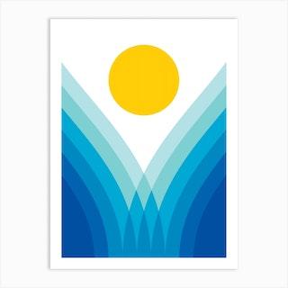 Ocean Valley Art Print