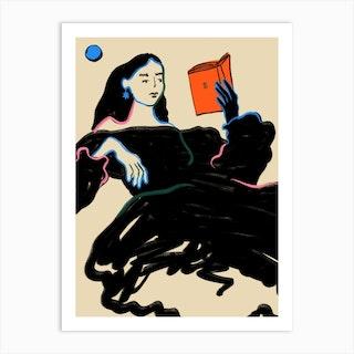 Midnight Reading Art Print
