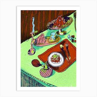 Crystal Meal Cold Art Print