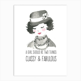 Fabulous Like Coco Art Print
