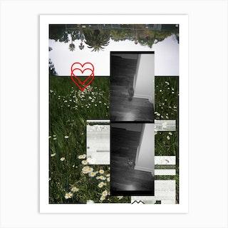 Film Collage 3 Black Cat Art Print