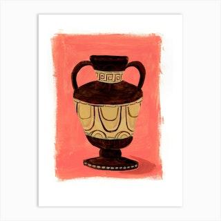 Brown Urn 02 Art Print