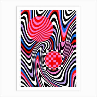 Optical Waves  Art Print