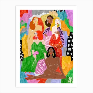 Female World Art Print