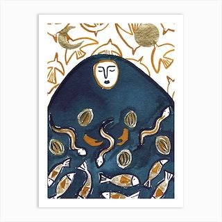 Mother Mountain Art Print