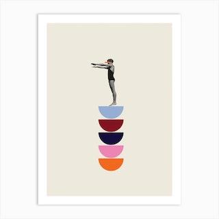 The Swimmer 1 Art Print