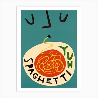Yum Spaghetti Art Print