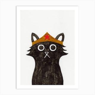 Wonder Cat Art Print