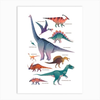 Dinosaurs Kids Room Art Print