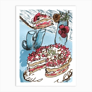 Cake Still Life  Art Print