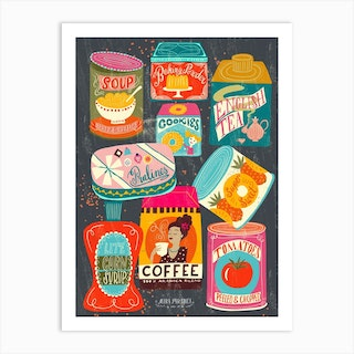 Colorful Pantry 1 Art Print
