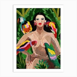 Reina De La Selva Art Print