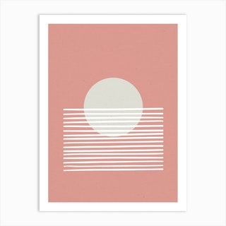 Sunset Abstract Pink Art Print
