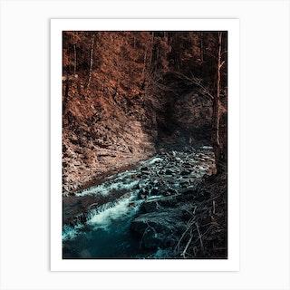 Idyllic River Through The Woods 3 Art Print