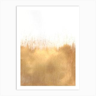 Brushed Gold Art Print