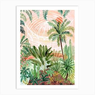 Victorian Greenhouse Art Print