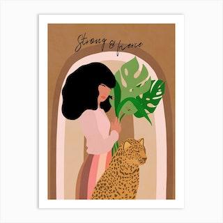 Strong And Fierce Girl Power Art Print