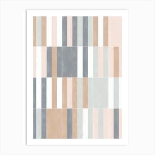 Muted Pastel Tiles 03 Art Print