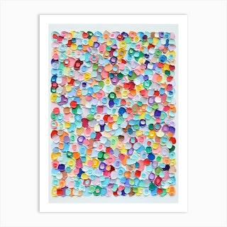 Polka Daub Barnacles No Art Print