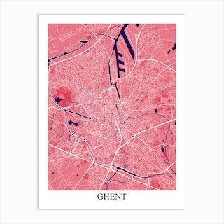 Ghent Pink Purple Art Print