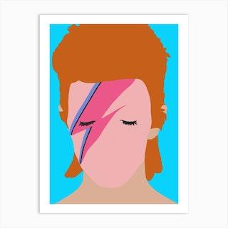 David Bowie Rock Art Print