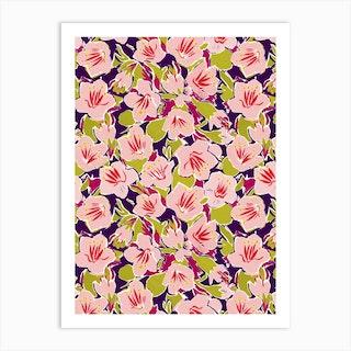 Purple Hibiscus Print Art Print
