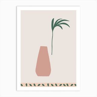Terracota Vase Art Print