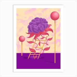 A Golden Ladder Art Print