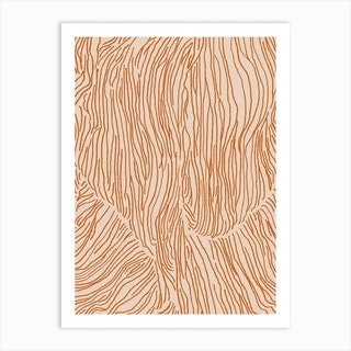 Abstract Lines In Terracotta Art Print