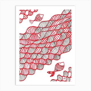 Coral Fish Art Print