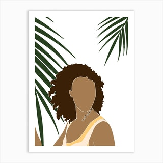 Tropical Reverie Grace Art Print