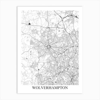 Wolverhampton White Black Art Print