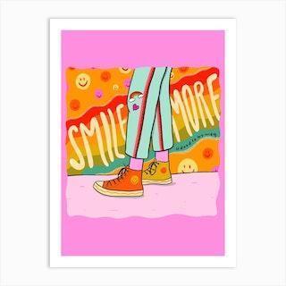 Smile More Art Print