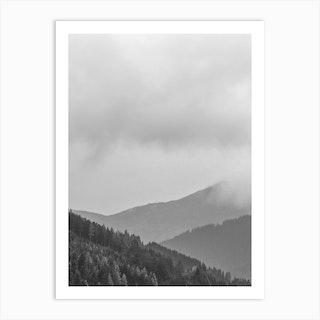 Layered Mountains Art Print