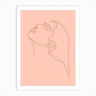 Magnetic Minimal Line Portrait Art Print