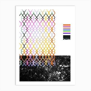 Film Collage 5 Fences Art Print